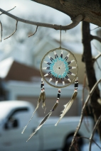 BROOKLYN - January 8, 2017: I walk around Holy Cross cemetery several times a week and tmy Photo of the Day project already has me spotting new things, such as the dream catcher someone hung from a tree branch. Beautiful.