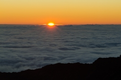 MAUI - the sun rising over Haleakala Crater