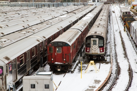The train yard at the Metts Willis stop on the 7 train.