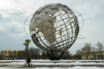 The 120-foot Unisphere in Flushing-Meadows Corona Park in Queens. The steel sculpture was commissioned for the 1964-1965 World's Fair.
