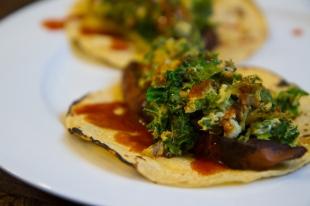 Breakfast veggie tacos on a Sunday morning.