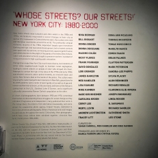 """Whose Streets? Our Streets!"" is a photography exhibit at the Bronx Documentary Center that features images of activism from NYC from 1980-2000."